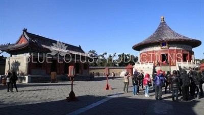 Imperial Vault of Heaven (Huang Qiong Yu) and West Annex Hall in the Temple of Heaven in Beijing