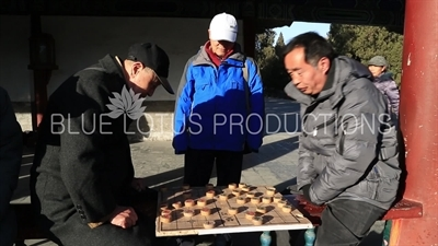 Chinese Chess in the Long Corridor (Chang Lang) in the Temple of Heaven in Beijing