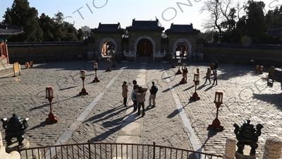 Echo Wall (Hui Yin Bi) in the Temple of Heaven (Tiantan) in Beijing