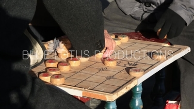 Chinese Chess Board in the Long Corridor (Chang Lang) in the Temple of Heaven in Beijing