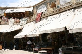 Market near the Nasir al-Mulk Mosque in Shiraz