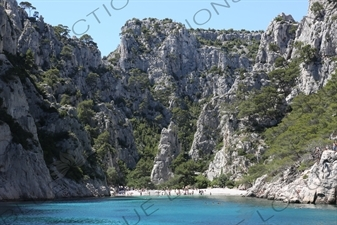 'Hidden' Beach in a Calanque near Cassis