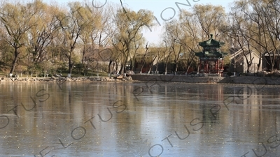 Pavilion in the Old Summer Palace in Beijing
