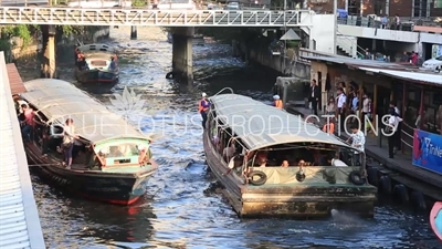 Passenger Barge on a Canal in Bangkok