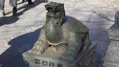 Dragon Turtle (Longgui) Statue in the Lama Temple in Beijing