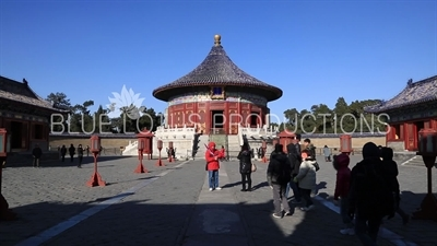 Imperial Vault of Heaven (Huang Qiong Yu) in the Temple of Heaven in Beijing