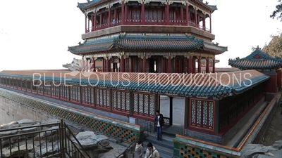 Tower of Buddhist Incense (Fo Xiang Ge) on Longevity Hill (Wanshou Shan) in the Summer Palace in Beijing