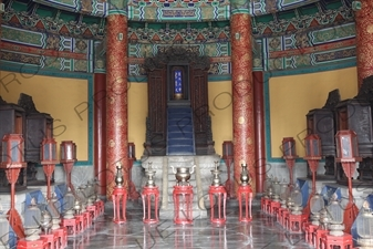 Imperial Vault of Heaven (Huang Qiong Yu) in the Temple of Heaven (Tiantan) in Beijing