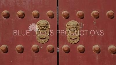 Dragon Door Knockers on the Dressing Terrace in the Temple of Heaven in Beijing